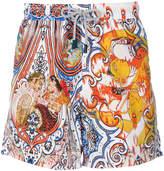 Etro Indian print swim shorts