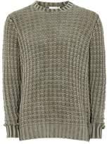 Topman LTD Khaki Acid Wash Sweater