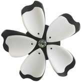 Forest of Chintz Black And White Flower Brooch