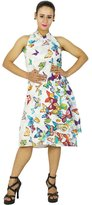 "Phagun New Dress Cotton Magic Wrap Skirt Plus Size Long 34"" White Wrap Halter Sarong"