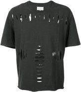 Maison Margiela cut-out T-shirt - men - Cotton - 48