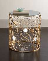 Haute House Tessy Mirror-Top Side Table