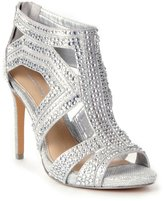 Gianni Bini Sianna Metallic Fabric Jeweled Beaded Dress Sandals