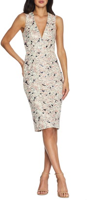 Dress the Population Colette Sequin Floral Cocktail Dress