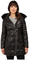 "Andrew Marc Jillian 32"" Laquer Puffer Faux Fur Coat"