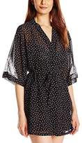 Cinema Etoile Women's Brielle Soft Cup Dot Print Baby Doll and Robe Set