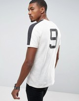Abercrombie & Fitch T-Shirt With Back Print Number Logo In Oatmeal
