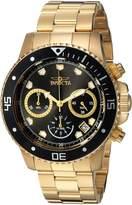Invicta Men's 'Pro Diver' Quartz Stainless Steel Diving Watch, Color:Gold-Toned (Model: 21893)