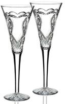 Waterford Artisan 2017 Engraved by Tom Brennan Wedding Toasting Flute, Set of 2