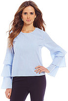 Gianni Bini Rosario Tiered Bell Sleeve Blouse