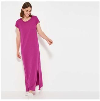 Joe Fresh Women's Side Slit Maxi Dress, Fuchsia (Size S)