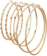 Charlotte Russe Metal Hoop Earrings - 3 Pack