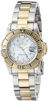"""Invicta Women's 17383SYB """"Pro Diver"""" Stainless Steel and 18k Gold Ion-Plated Watch"""