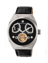 Heritor Oxford Mens Black Strap Watch-Herhr5502