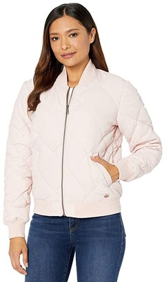 Dickies Quilted Bomber Jacket (Lotus Pink) Women's Clothing