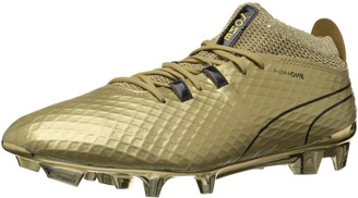 Puma Men's ONE FG Soccer Shoe Team Gold Black 11.5 M US