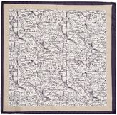 Corsivo Oronzo Map Detail Italian Silk Pocket Square