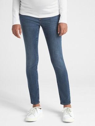 Gap Maternity Soft Wear Demi Panel True Skinny Jeans