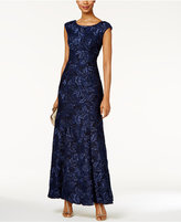 Xscape Evenings Petite Embroidered Lace Gown