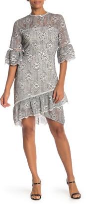 Guipure Lace Asymmetrical Dress