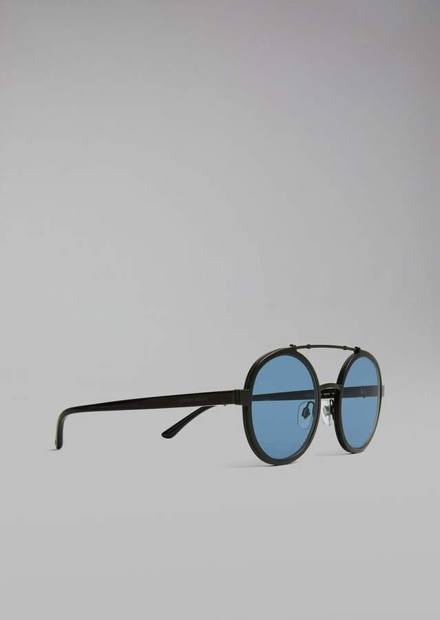 Giorgio Armani Catwalk Sunglasses With Rounded Frame