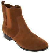 Isaac Mizrahi Live! Gored Leather Ankle Boots