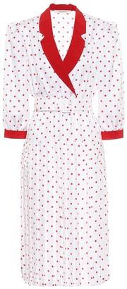 Rodarte Polk-dot silk midi dress