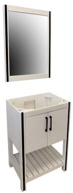 "CraftMark WhiteWater 24"" Single Bathroom Vanity Set with Mirror"