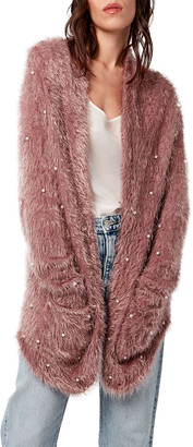 As By Df Snowdust Luxe Shaggy Cardigan