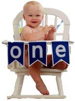 Mud Pie Blue 'One' High Chair Banner