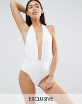 South Beach Lace Plunge Swimsuit