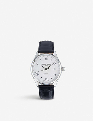 Frederique Constant 303MS5B6 Classic Index automatic stainless steel and leather strap watch