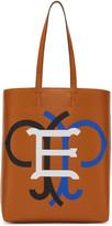 Emilio Pucci Tan Leather Logo Tote