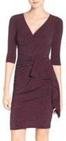 Leota Women's 'Scarlett' Knit Faux Wrap Dress