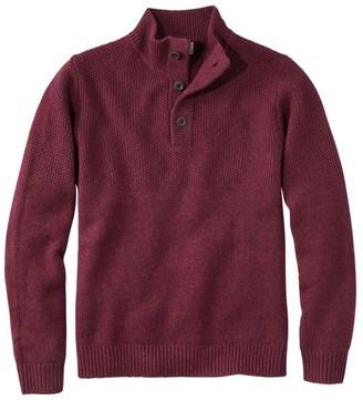 L.L. Bean L.L.Bean Men's Washable Lambswool Sweater, Button Mock