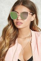 Forever 21 FOREVER 21+ Mirrored Cateye Sunglasses