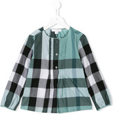Burberry checked blouse - kids - Cotton - 8 yrs