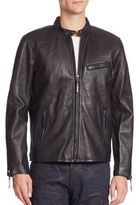 Polo Ralph Lauren Lambskin Leather Cafe Racer Jacket