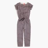 J.Crew Girls' drapey jumpsuit in elephant safari
