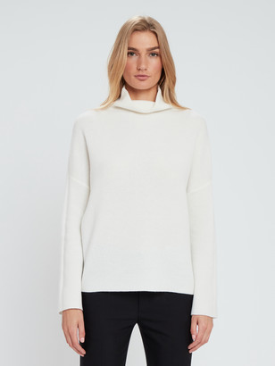 Vince Funnel Neck Wool Cashmere Pullover