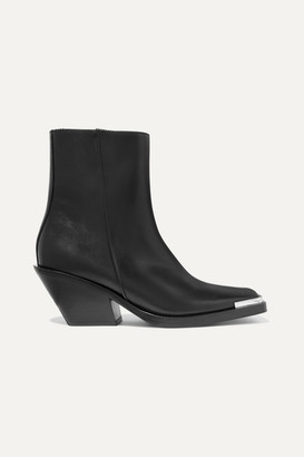 Acne Studios Braxton Leather Ankle Boots - Black