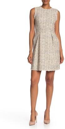 Rebecca Taylor Rainbow Tweed Sleeveless Dress