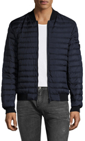 Quilted Puffer Bomber Jacket