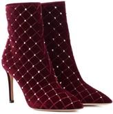Valentino Garavani Rockstud Spike velvet ankle boots