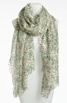 Nordstrom 'Garden Leopard' Print Wool Scarf