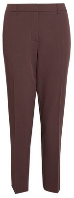 Dorothy Perkins Womens Coffee Ankle Grazer Trousers