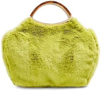 Topshop Lime Faux Fur Grab Bag