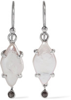 Chan Luu Silver Pearl Earrings - One size