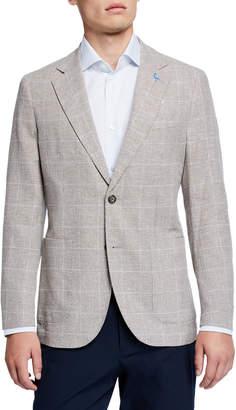 Tailorbyrd Small Windowpane Sport Coat, Khaki