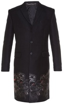 Givenchy Screaming Monkey Embroidered Notch-lapel Coat